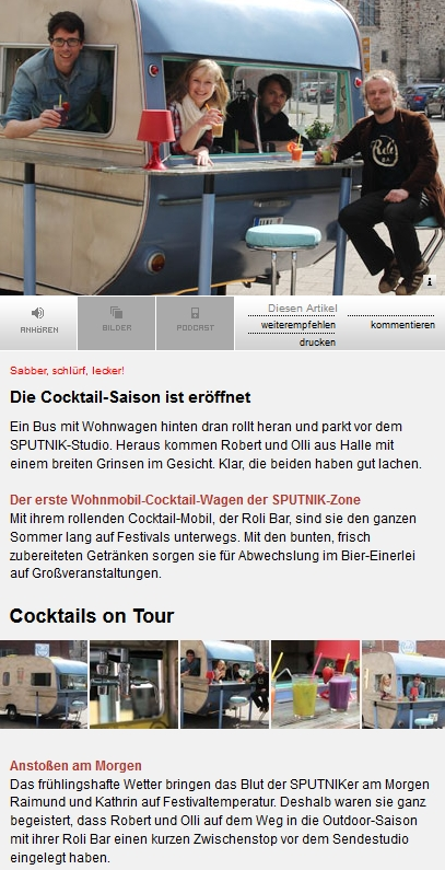 Radio Sputnik - Sputniker am Morgen - mobile Bar